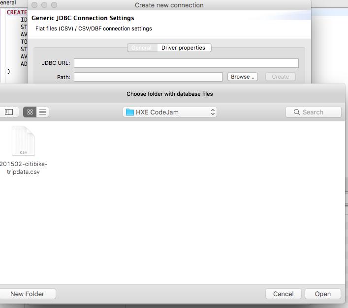 HXE, DBeaver and CSV files!
