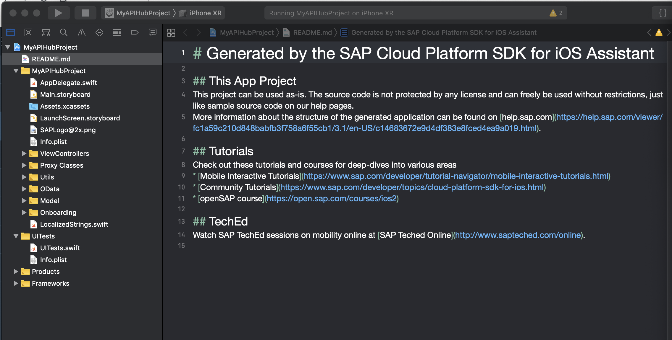 SAP API Business Hub Integration – SAP Cloud Platform SDK