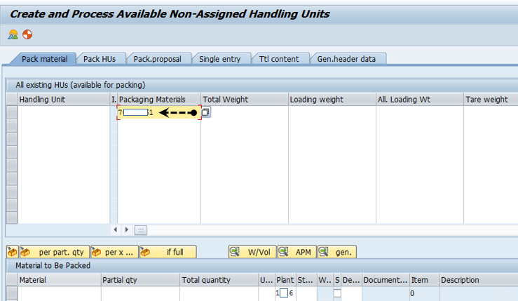 Algorithm of Packing and Unpacking a Handling Unit: Part-II
