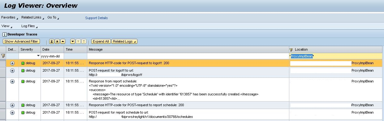 Creating custom Log Entries in Audit Log from Java Proxy