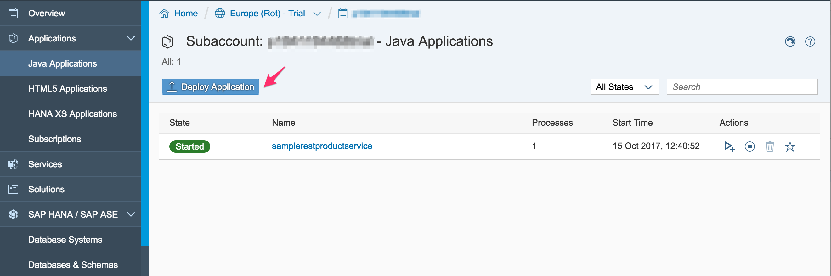 How to run a simple Spring Boot RESTful service on SAP Cloud