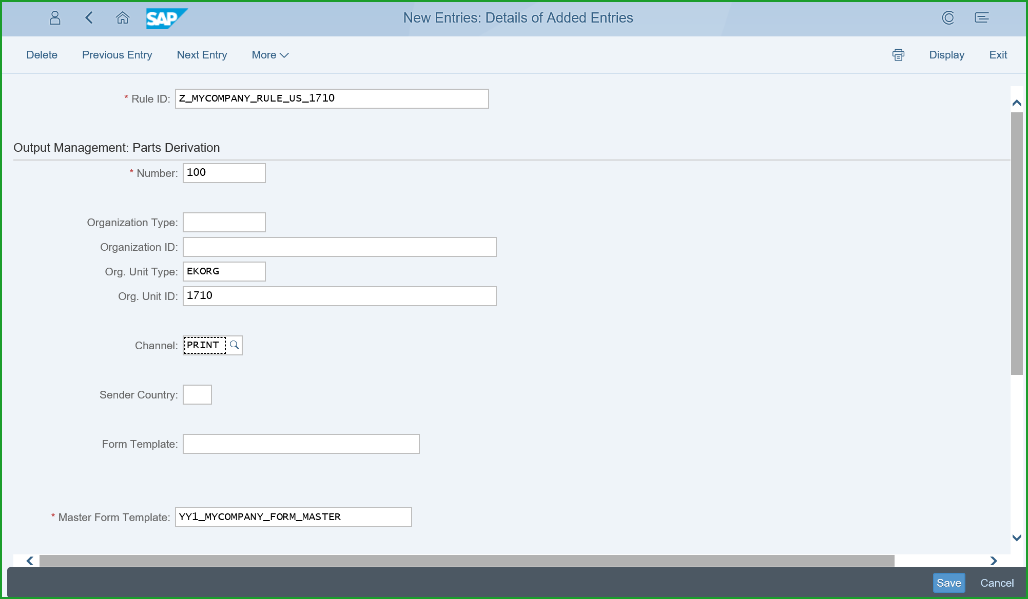 Output Management Customize Master Form For Logo And Address Tel
