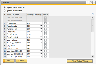 add new update price list on sap business one 9 2 sap blogs