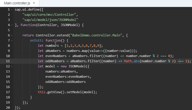 Next generation JavaScript in UI5 using SAP Web IDE | SAP Blogs