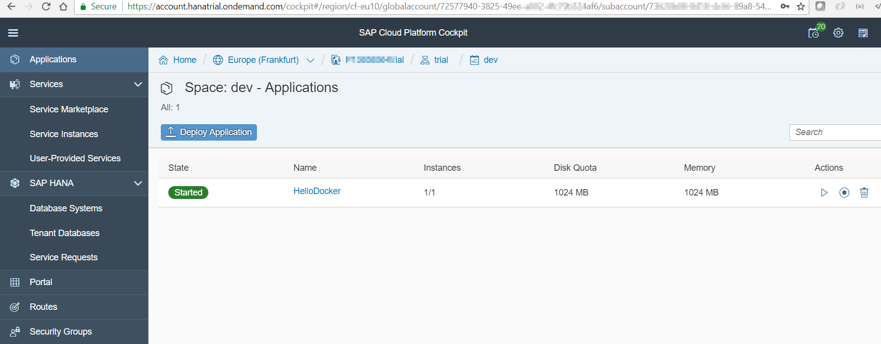 Deploy a container to SAP Cloud Platform CF using Docker Hub and GitHub | SAP Blogs