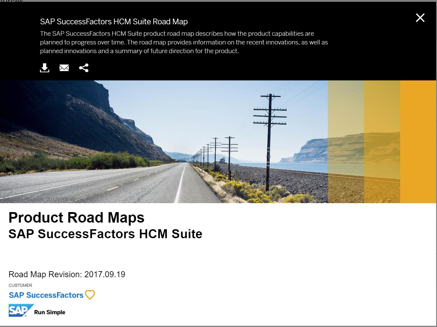 How to Access SAP SuccessFactors Roadmaps | SAP Blogs
