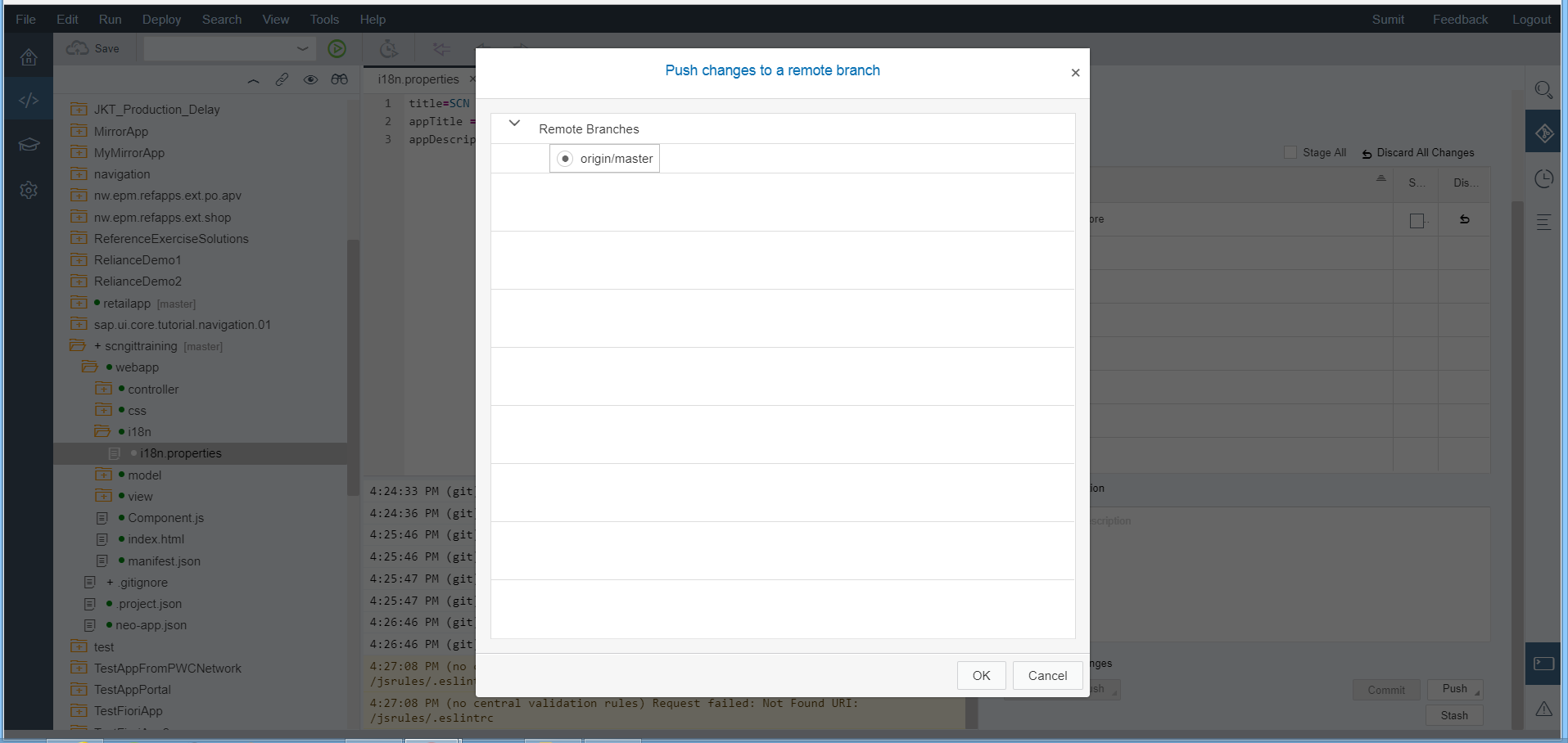 SAP WEBIDE – GIT Configuration | SAP Blogs