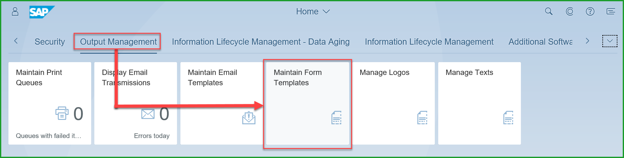 Output Management – Customize Master Form for Logo and Address Tel ...