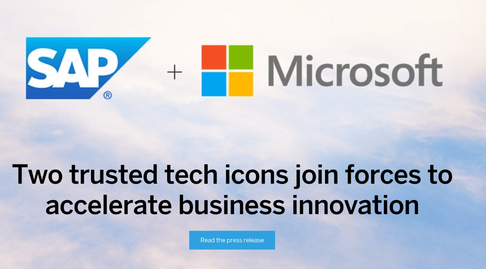 sap microsoft join forces to accelerate business innovation sap