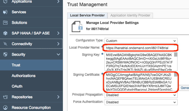Configuring OAuth 2 0 between SAP Hybris Cloud for Customer