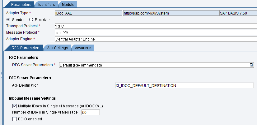 idoc aae sender adapter in sap po sap blogs