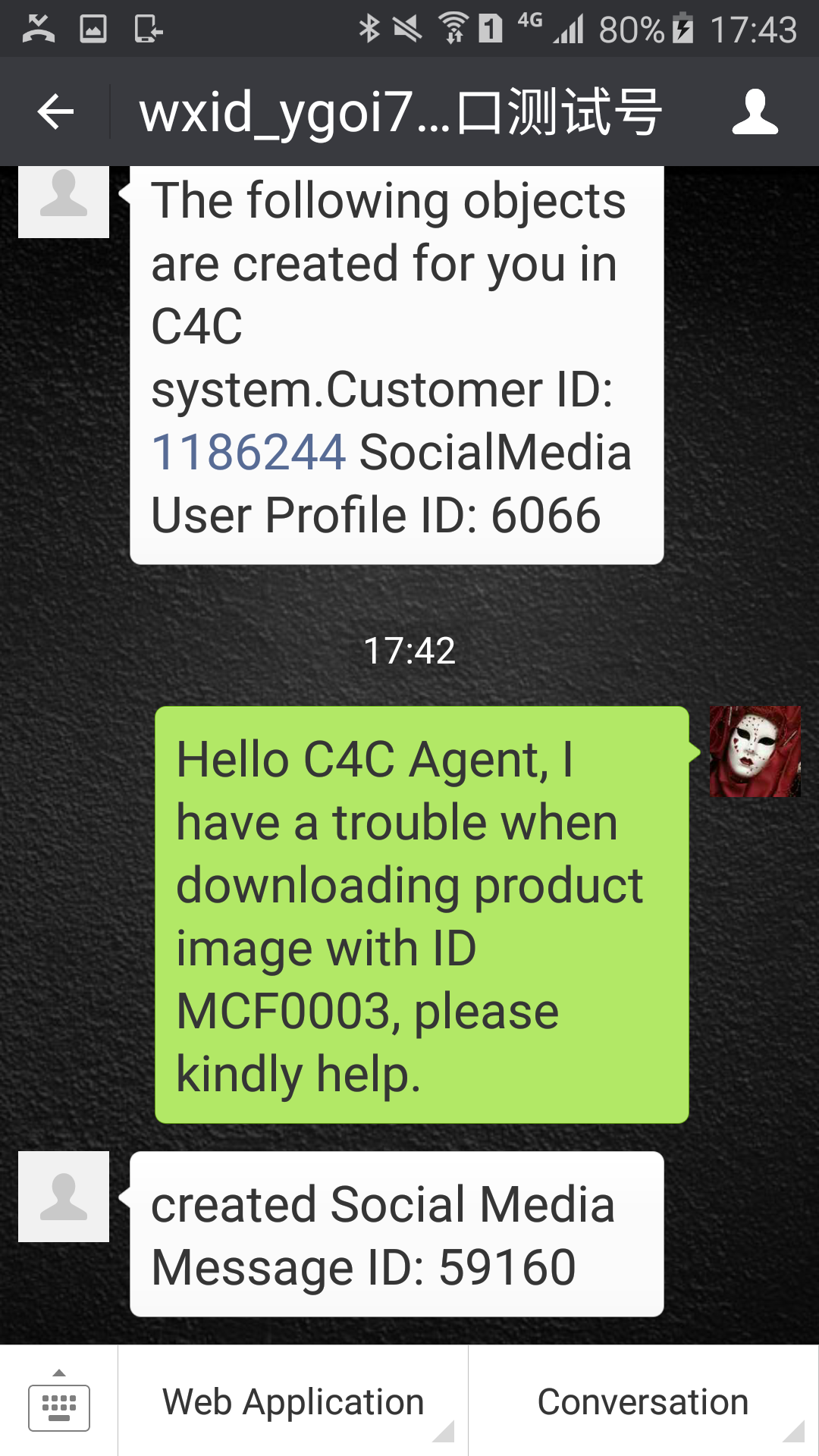 Wechat development series 9 – Create C4C Social Media Message and