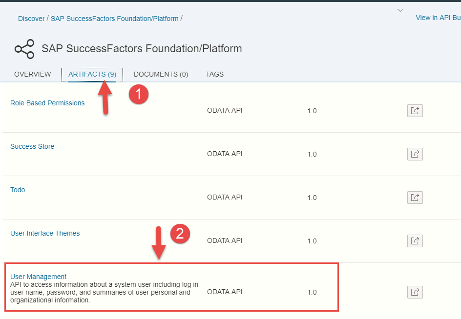 Part 6: Discover, Explore and Manage SAP SuccessFactors APIs