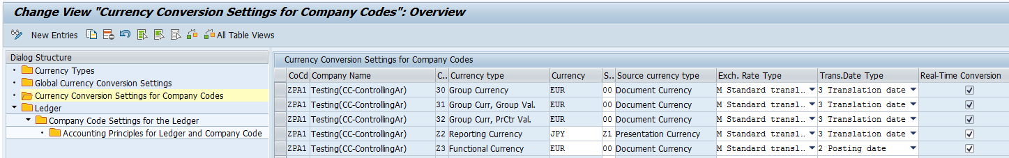 company code table in sap