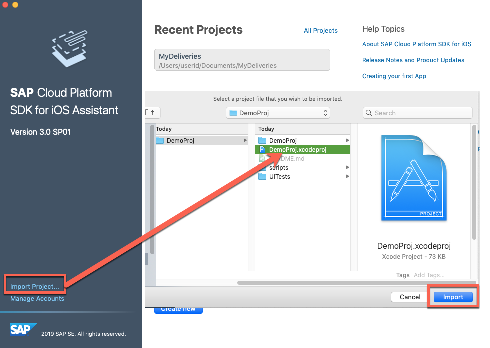 Latest changes in SAP Cloud Platform SDK for iOS Assistant