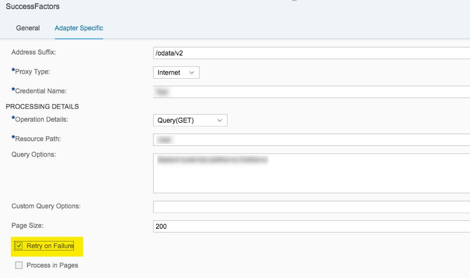 Retry Handling in SuccessFactors OData V2 Adapter for SAP Cloud
