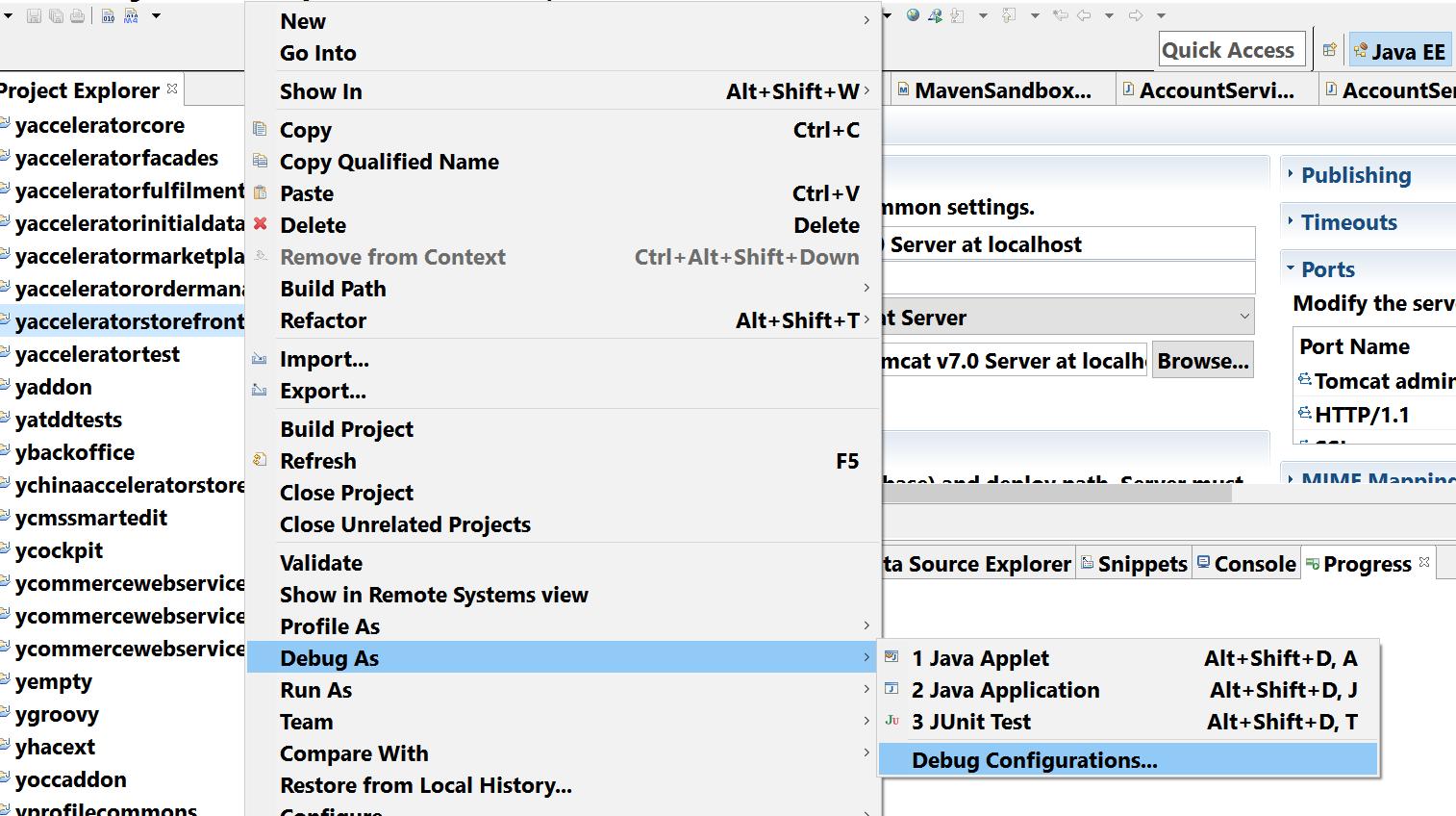 Step by step to setup debug environment for Hybris HCP | SAP