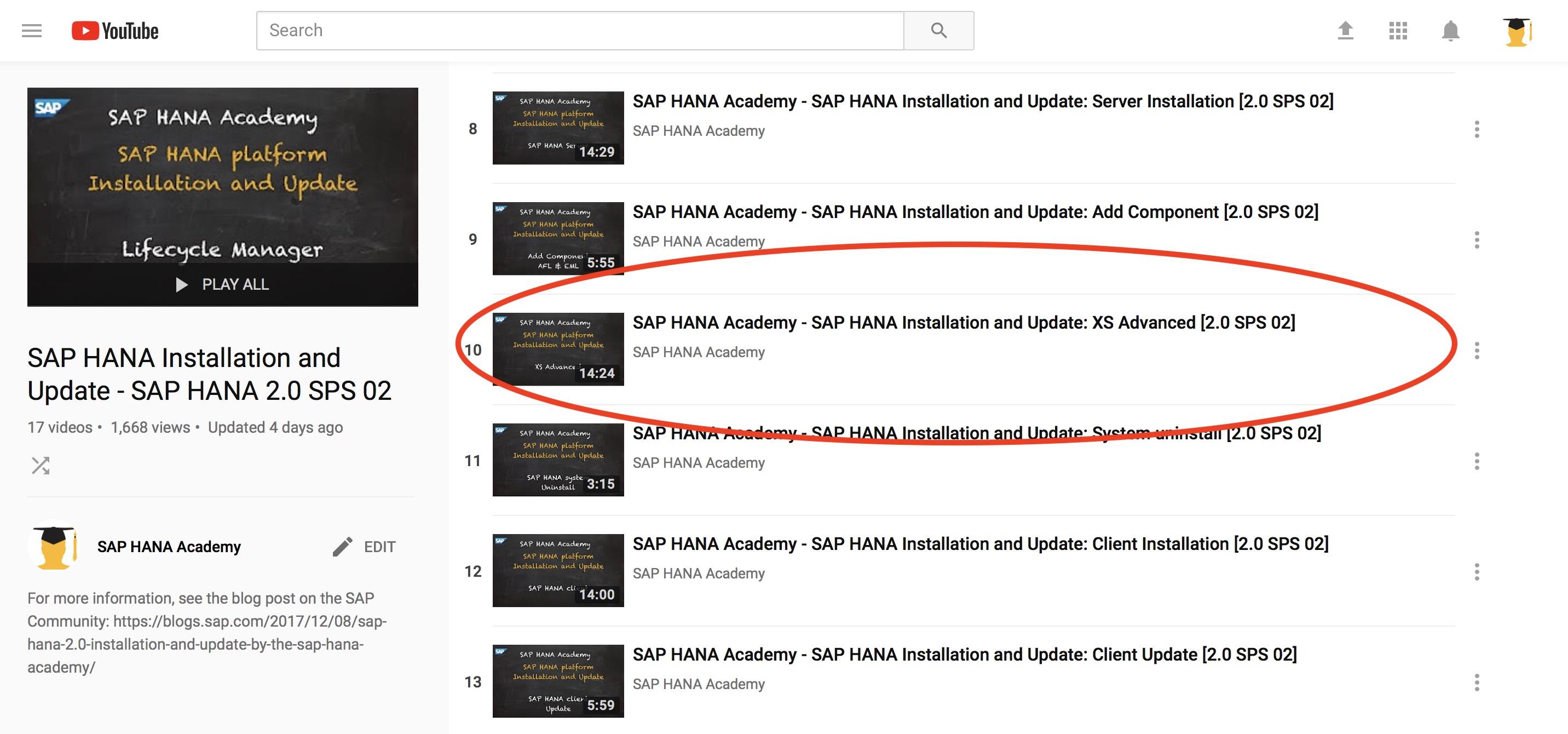 SAP HANA 2 0 XS Advanced Installation – by the SAP HANA Academy