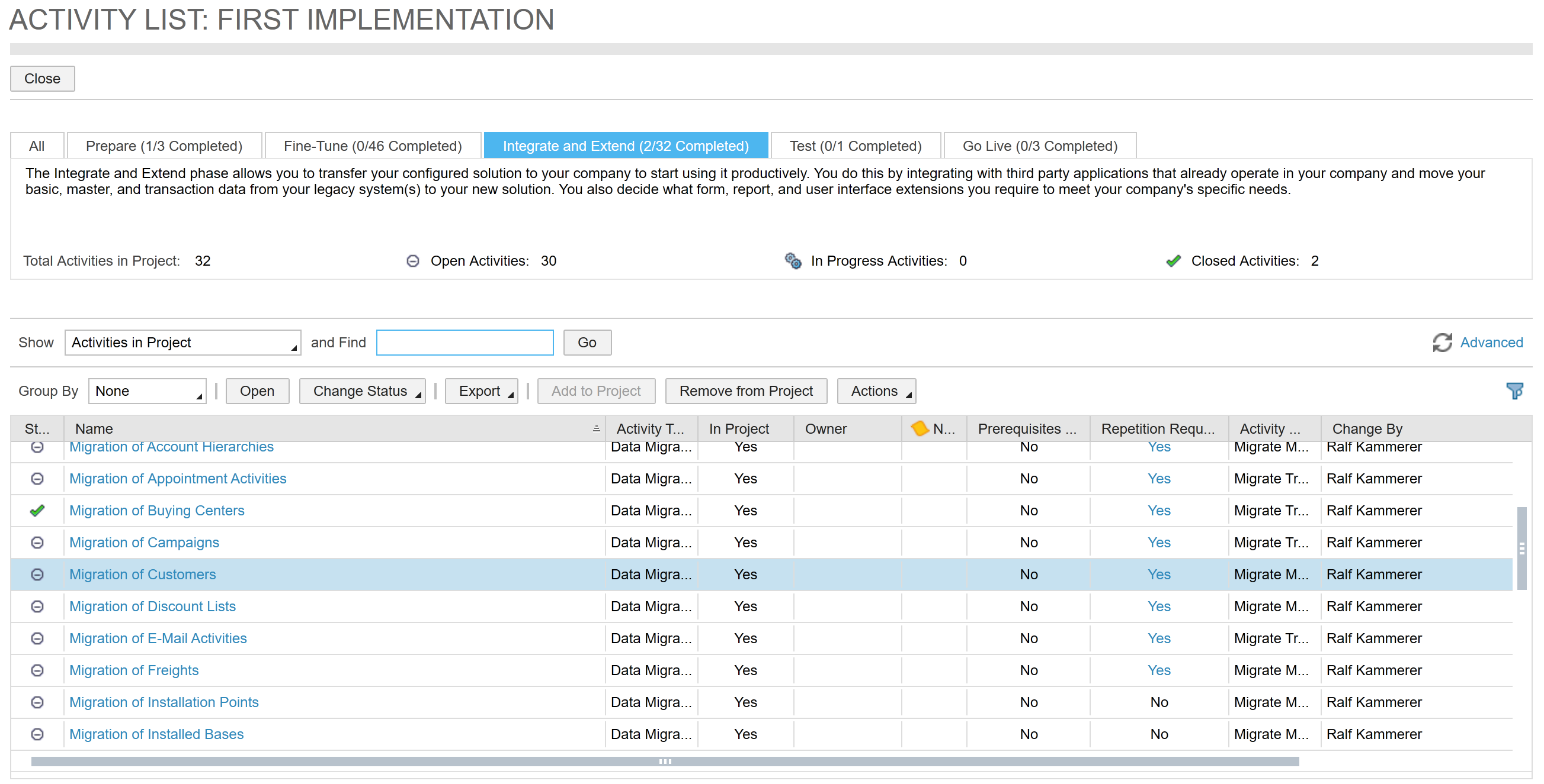 Best Practices for Data Migration into SAP Hybris Cloud for Customer