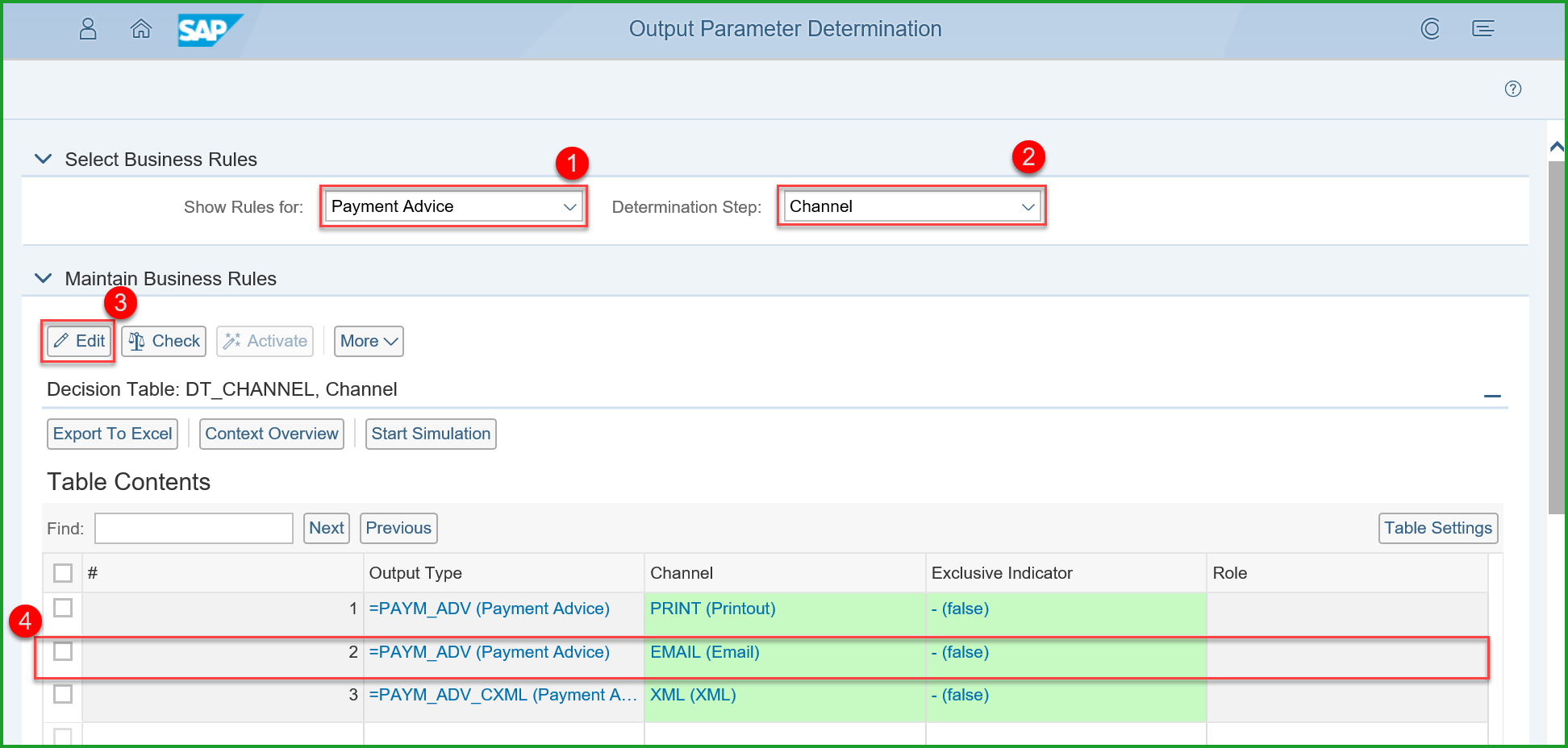 Output Management – Customize Email Form for Payment Advice