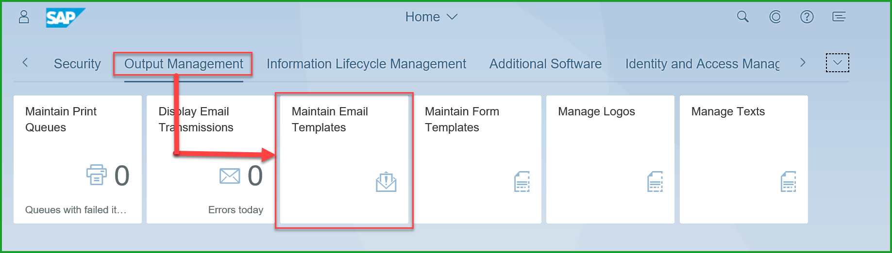 output management customize email form for payment advice sap blogs