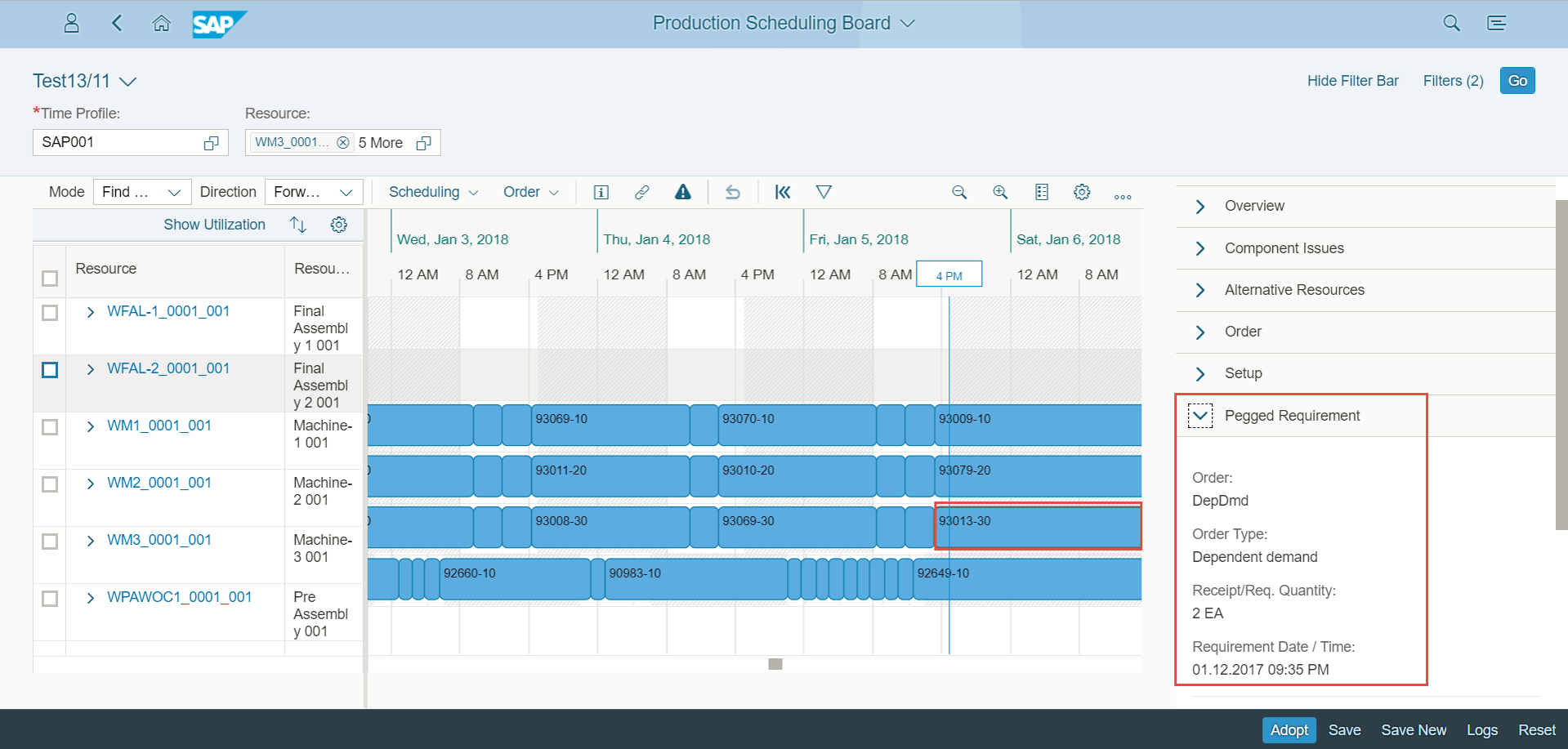 production scheduling board with pp  ds for sap s  4hana  advanced planning  on sap s  4hana 1709
