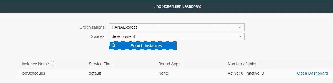 Using the Job Scheduler in XS Advanced | SAP Blogs