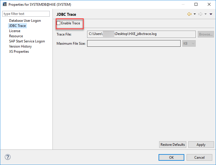 Troubleshooting connection problems: HANA express from HANA Studio