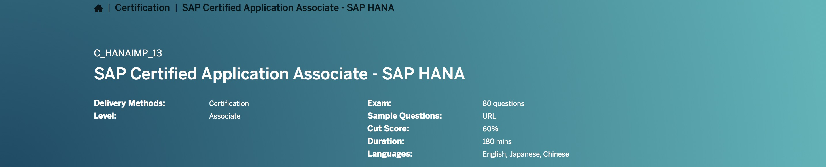 Sap certified application associate chanaimp13 by the sap hana as a rule sap certifications are valid for a limited time period see the faq baditri Image collections