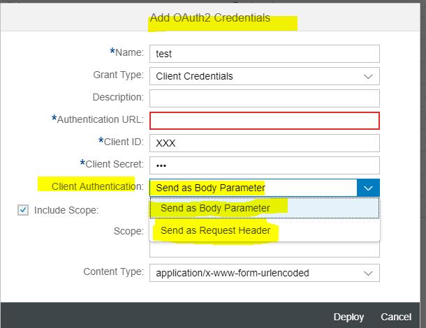 Part 1 : Secure connectivity (OAuth) to SAP Cloud Platform