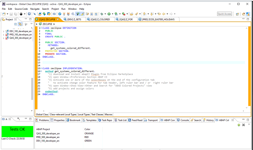 Coloring systems in ABAP in Eclipse | SAP Blogs
