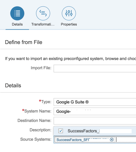 Integrating SAP SuccessFactors with Google Cloud Identity with the