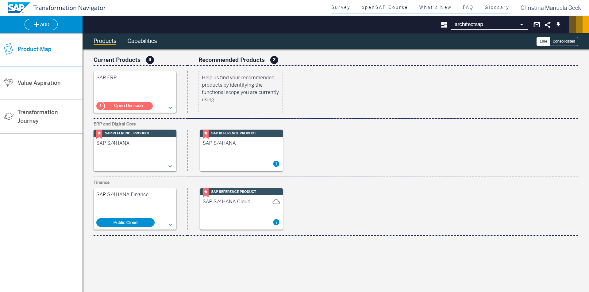 Create your own product map in the SAP Transformation