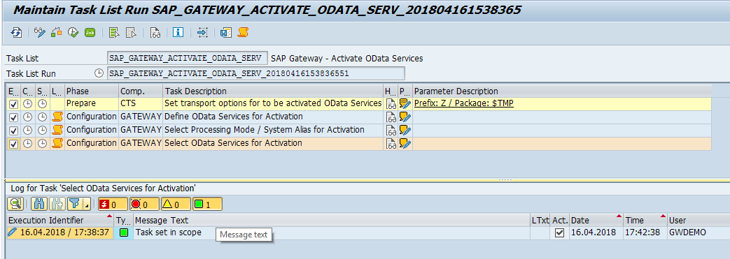 Updated tasklist available for SAP Gateway service activation | SAP