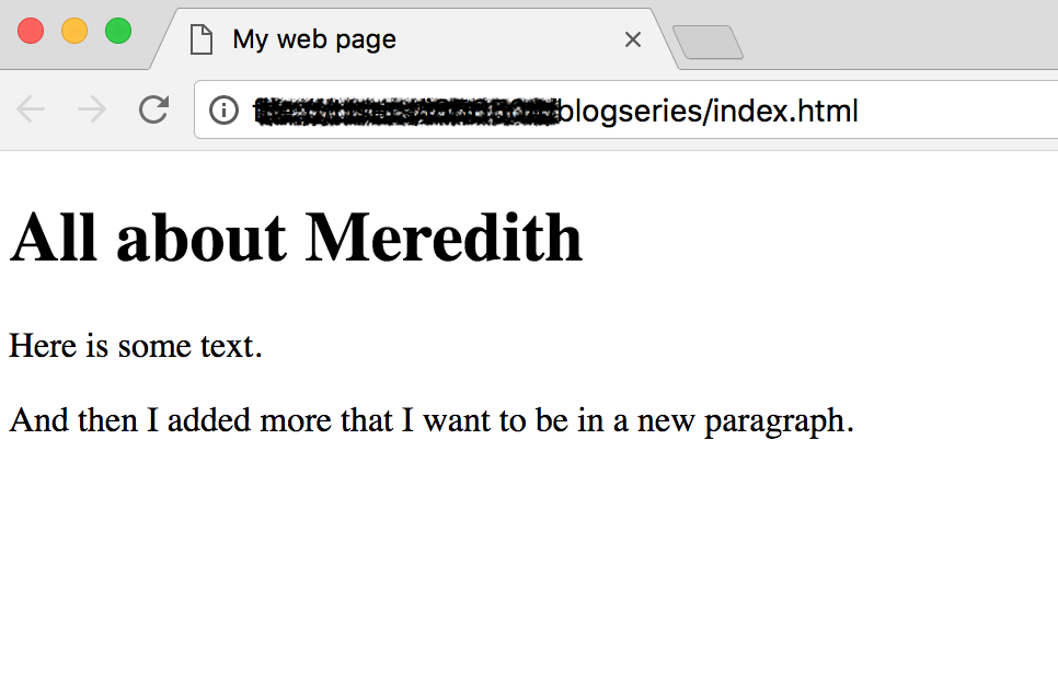 The Big Bang of Web Development: Starting at index html