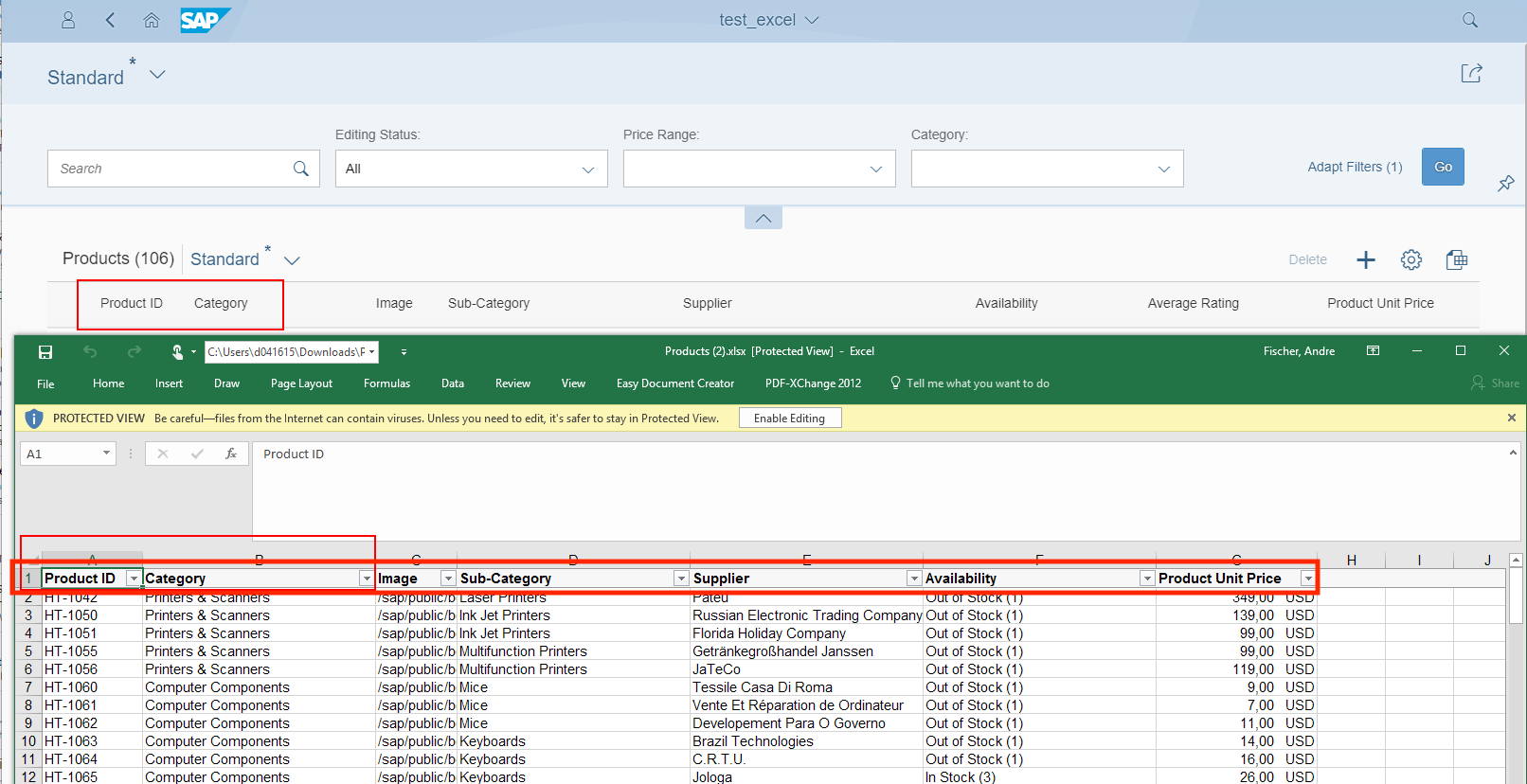 New Excel export functionality available | SAP Blogs