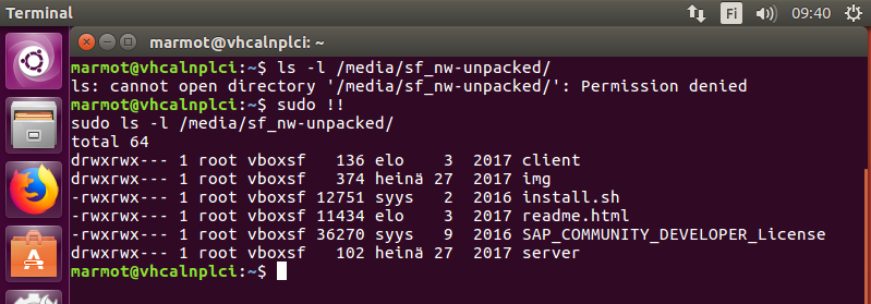 Installing SAP NetWeaver Developer Edition on an Ubuntu desktop VM
