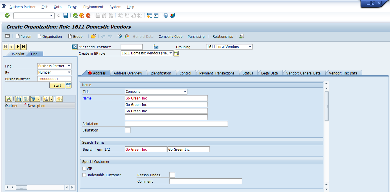 how to create business partner grouping in s4 hana