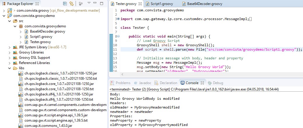 Get groov'in with your iFlows – groovy scripting with Eclipse for