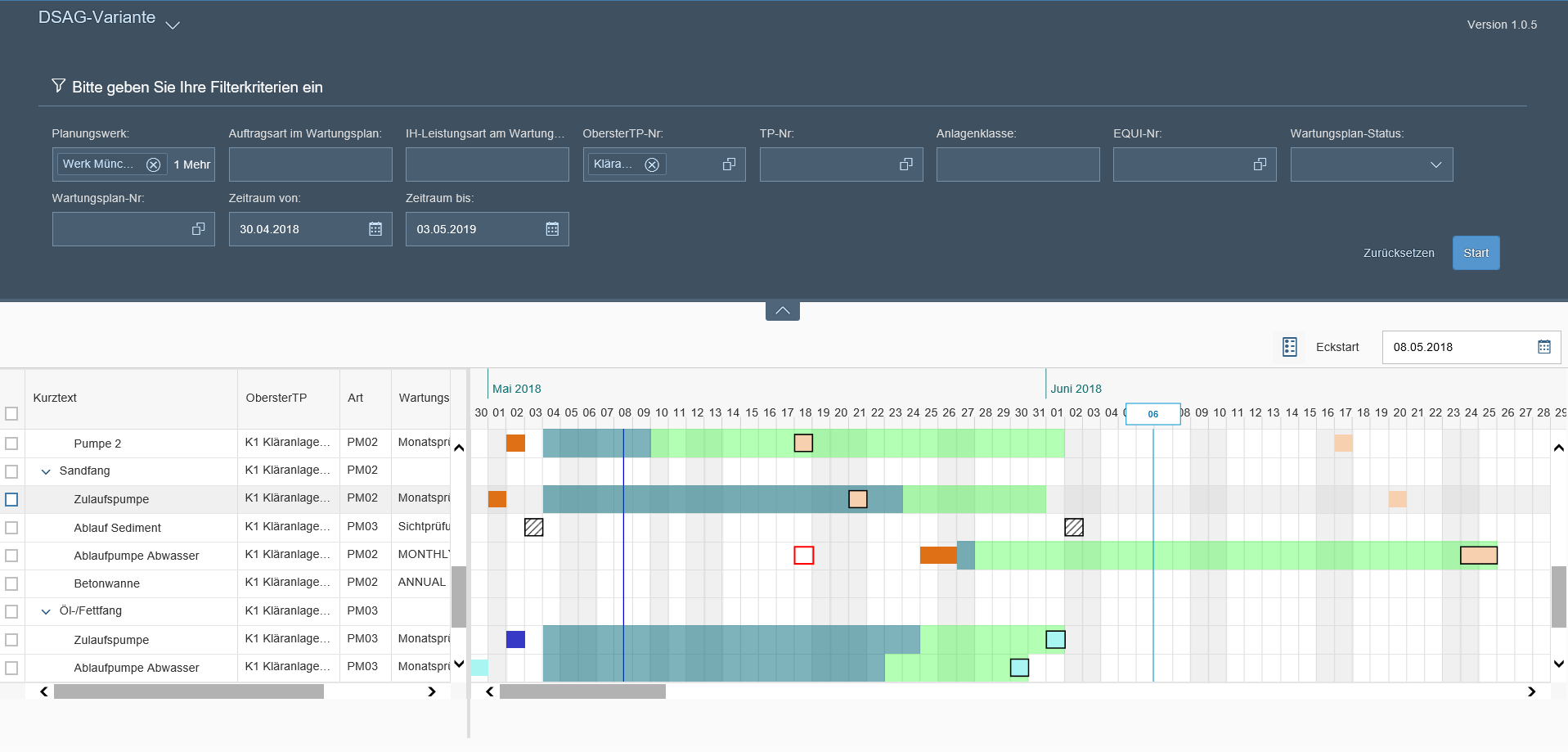 graphical maintenance planning with fiori