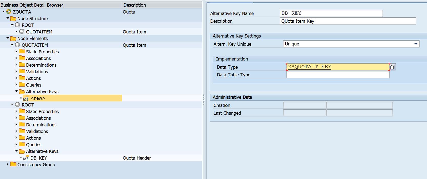 BOPF: Using Non-UUIDs (DB_KEY) keys DB tables | SAP Blogs