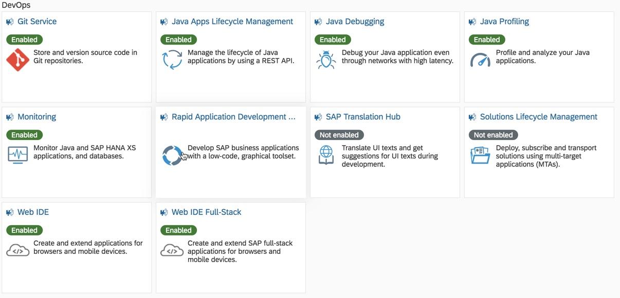 Exploring DevOps capabilities on SAP Cloud Platform | SAP Blogs