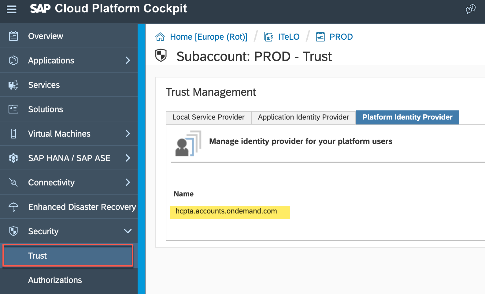 Setup a Platform Identity Provider for SAP Cloud Platform | SAP Blogs