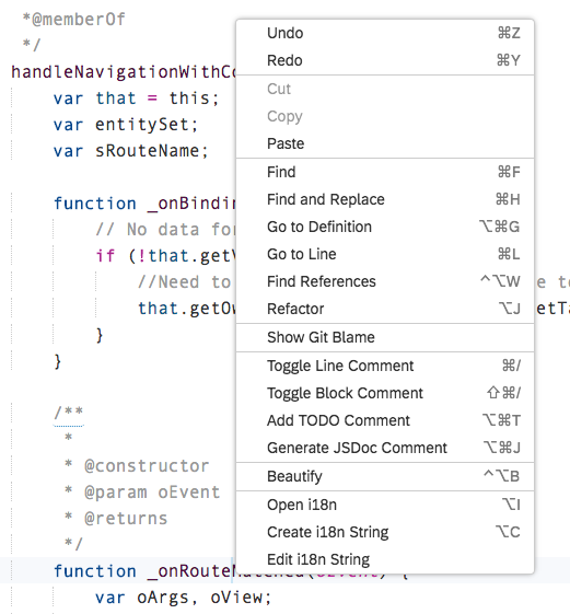 SAP Web IDE Code Editor Capabilities – Recap | SAP Blogs