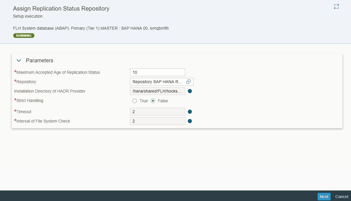 SAP HANA Replication Status based on SAP HANA HA/DR Hook in SAP