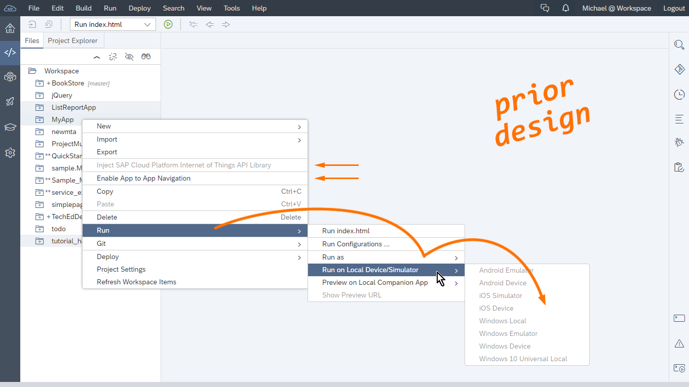New context menus experience in SAP Web IDE | SAP Blogs