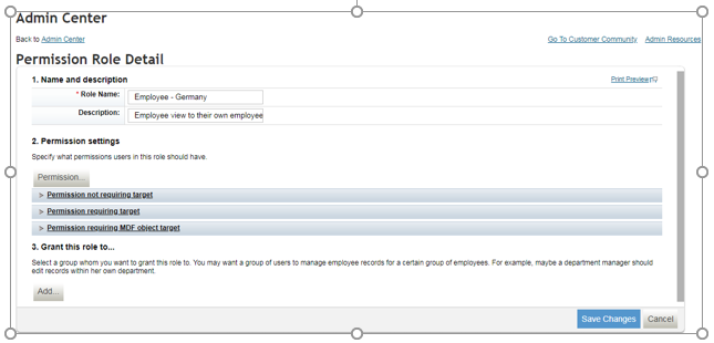 SuccessFactors: Employee Central – Role based permissions