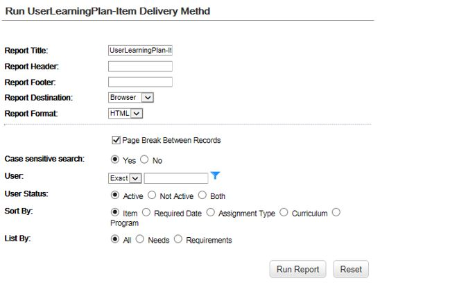 Developing Basic LMS Custom Reports through Plateau Report