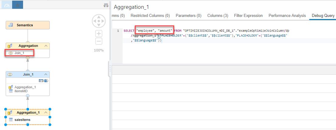 Example Optimize Join Columns | SAP Blogs