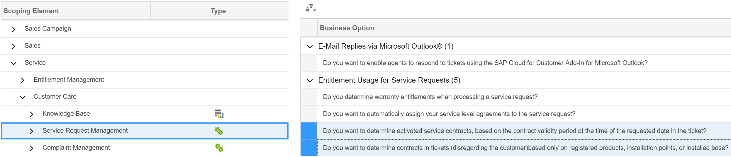 How To Configure The Service Contract Determination For Tickets